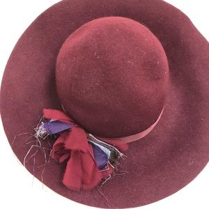 Chelsea Girl Burgundy Wool Hat
